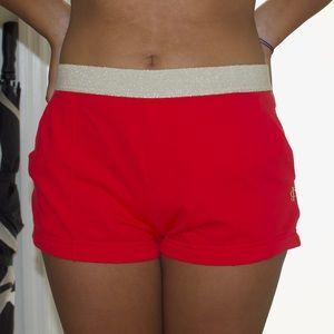 Juicy couture hot pink / gold shorts